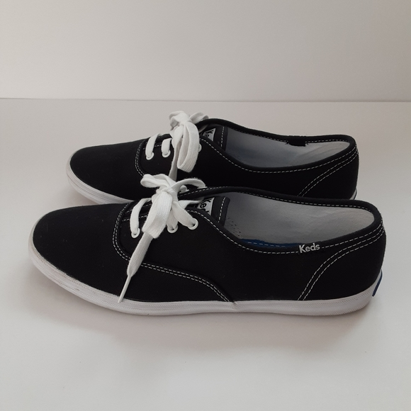 KEDS | Black Champion Canvas Sneakers